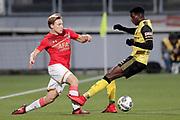 (L-R) Jonas Svensson of AZ Alkmaar, Gyliano van Velzen of Roda JC
