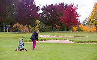 NUMANSDORP - Hole 10 . met Japanse Esdoorn .  Golfclub Cromstrijen. COPYRIGHT KOEN SUYK