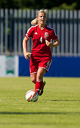 HAVERFORDWEST, WALES - Saturday, June 14, 2014: Wales' Kylie Davies in action against Turkey during the FIFA Women's World Cup Canada 2015 Qualifying Group 6 match at the Bridge Meadow Stadium. (Pic by David Rawcliffe/Propaganda)