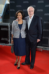 Michael Caine and his wife Shakira Caine attends the Munich Film Festival 2013 - Cine Merit Award 2013 at BMW World on July 01, 2013, Munich, Germany. Photo by Schneider-Press / Frank Rollitz / i-Images. <br /> UK & USA ONLY
