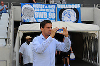 CAPE TOWN, South Africa - Monday 21 January 2013, taking pictures before the start during the soccer/football match Grasshopper Club Zurich (Switzerland) and Jomo Cosmos at the Cape Town stadium..Photo by Roger Sedres/ImageSA