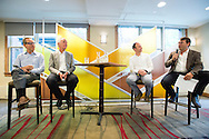 Bill Thoet of Booz Allen Hamilton moderates the Panel: Connected Society: Managing Risk and Seizing Opportunity When Everything Connects at the 2015 Aspen Ideas Festival in Aspen, CO. ©Brett Wilhelm