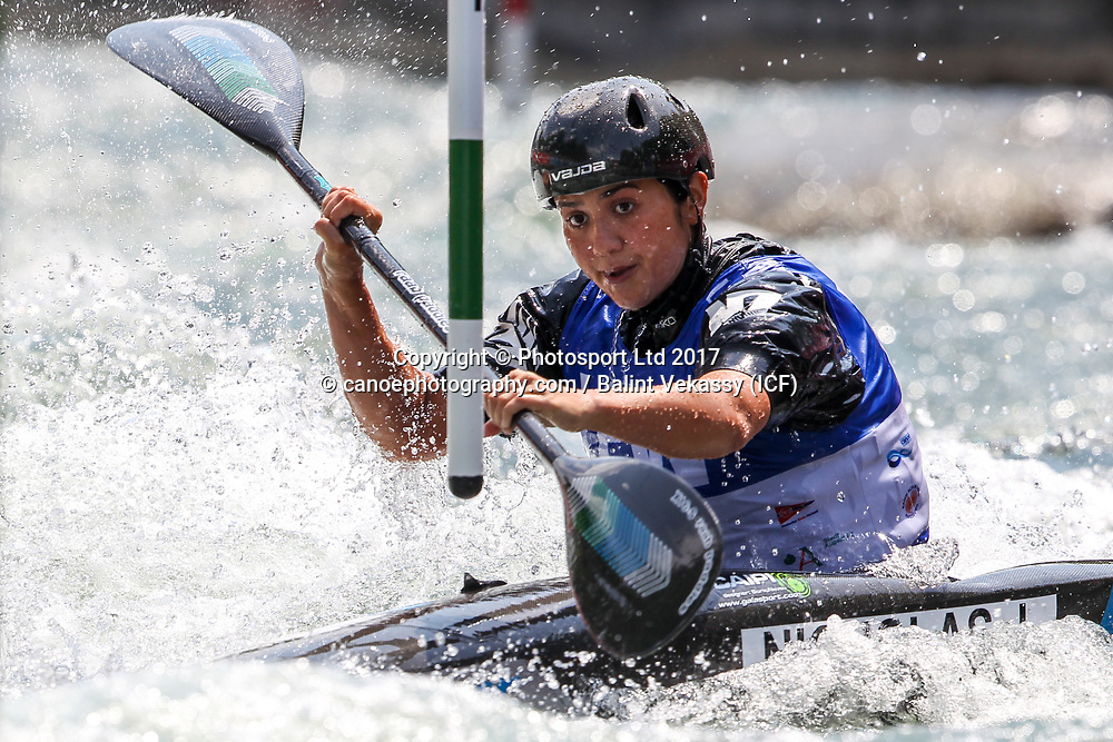 Jane Nicholas of New Zealand.<br /> 2017 ICF Canoe Slalom World Cup 2 in Augsburg, Germany held 23-25 June 2017.<br /> Copyright photo: Balint Vekassy / www.photosport.nz