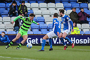 Forest Green Rovers Charlie Cooper(20) during the FA Trophy match between Macclesfield Town and Forest Green Rovers at Moss Rose, Macclesfield, United Kingdom on 4 February 2017. Photo by Shane Healey.