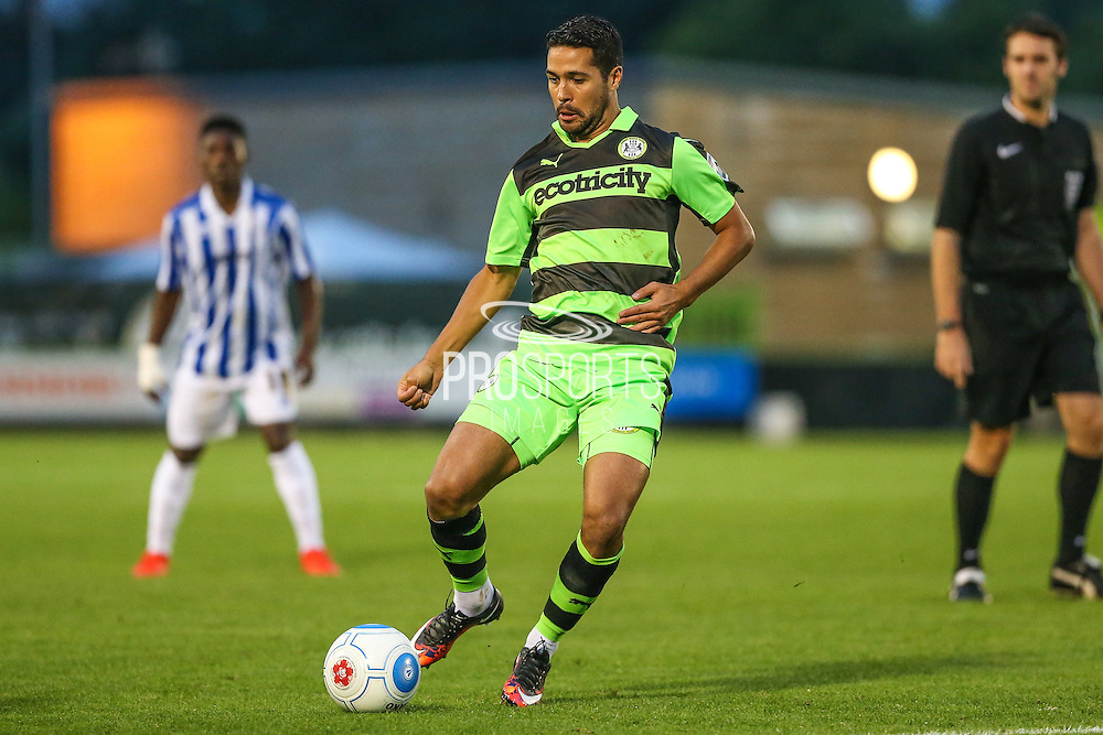 Forest Green Rovers Fabien Robert (26) plays a pass during the Gloucestershire Senior Cup match between Forest Green Rovers and Cheltenham Town at the New Lawn, Forest Green, United Kingdom on 20 September 2016. Photo by Shane Healey.