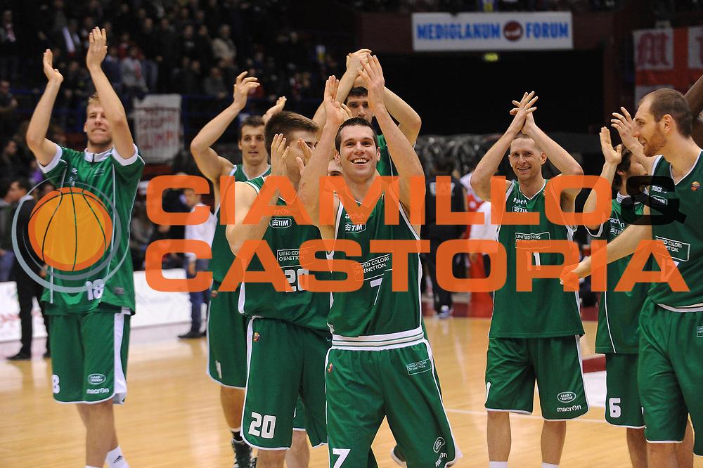 DESCRIZIONE : Milano Lega A 2011-12 EA7 Emporio Armani Milano Benetton Treviso<br /> GIOCATORE : Sani Becirovic team Treviso<br /> CATEGORIA : Ritratto Esultanza<br /> SQUADRA : Benetton Treviso<br /> EVENTO : Campionato Lega A 2011-2012<br /> GARA : EA7 Emporio Armani Milano Benetton Treviso<br /> DATA : 11/01/2012<br /> SPORT : Pallacanestro<br /> AUTORE : Agenzia Ciamillo-Castoria/A.Dealberto<br /> Galleria : Lega Basket A 2011-2012<br /> Fotonotizia : Milano Lega A 2011-12 EA7 Emporio Armani Milano Benetton Treviso<br /> Predefinita :