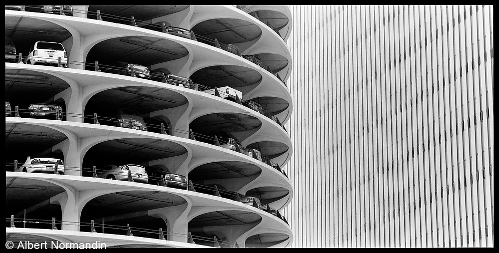 Round parking building Chicago, Illinois, USA, June 2003