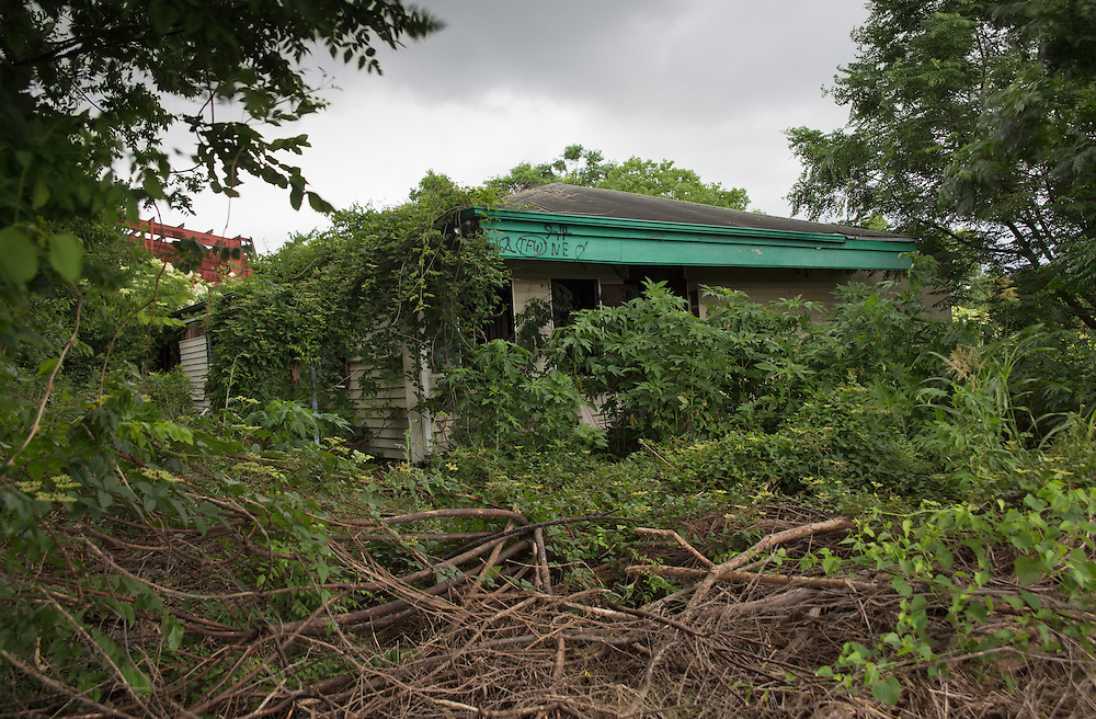 May 25, 2015, New Orleans, LA, Blighted home  in the Upper 9th Ward almost ten years after Hurricane Katrina flooded the area.