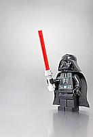 Lego Darth Vader with lightsaber