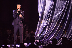 EDITORIAL USE ONLY.<br /><br />Rita Ora and Liam Payne perform on stage at the Brit Awards at the O2 Arena, London.