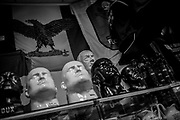A local shop selling busts of Adolf Hitler and Benito Mussolini in 2014. About 2000 fascists gathered in Predappio, Italy to commemorate the annivrsary of the 'Marcia su Roma' A march held on October 28th 1922 and marked the start of the Italian fascist era .Federico Scoppa