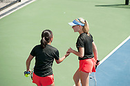 Jennifer Wong and Greta Walser. Idaho High School State Tennis Championships on May 20, 2017 at Boise State University's Appleton Tennis Complex, Boise, Idaho. <br /> <br /> Boise's girls doubles team of Jennifer Wong and Greta Walser won a thriller over Borah's Cassidy Binder and Madeline Krausteam, 6-4, 3-6, 7-6 (10-8) to claim the 5A girls doubles title.