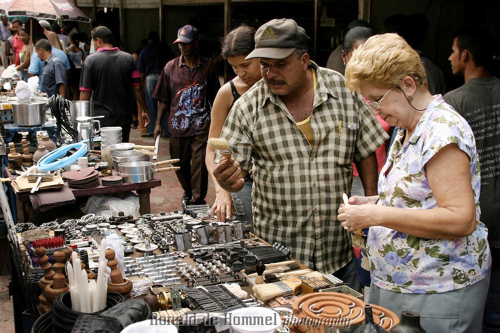 Black market in central Santiago de Cuba