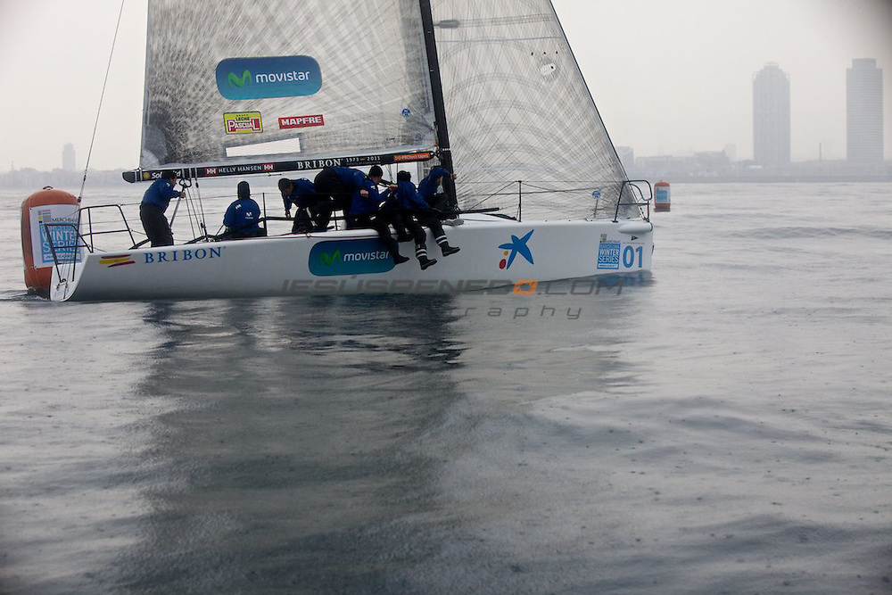 Merchbanc Barcelona Winter Series 2011-2011, third serie January 2012,Melges 32 winter racing organizaed by Real Club Náutico Barcelona