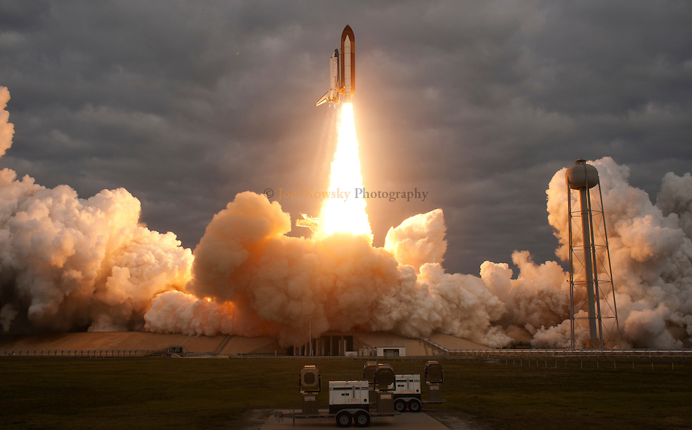 Cape Canaveral, Florida US - The space shuttle Endeavour blasts-off from pad 39A at the Kennedy Space Center on Monday, May 16, 2011.  This mission marks the 25th and final flight for Endeavour and the penultimate mission of the space shuttle program.  Endeavour will deliver the ExPRESS Logistics Carrier 3 and Alpha Magnetic Spectrometer to the International Space Station.  (Joel Kowsky/ZUMA Press)