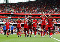 Photo: Richard Lane/Richard Lane Photography. Juventus v SV Hamburg. Emirates Cup. 03/08/2008. Hamburg players applaud their fans after winning 3-0.