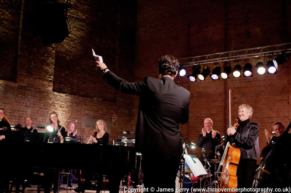 The City of London Sinfonia perfrom a CLoSer concert at Village Underground, Shoreditch, on Wednesday 25 April 2012.