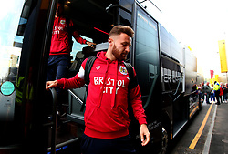 Matty Taylor of Bristol City arrives at Vicarage Road for his side's Carabao Cup Match against Watford - Mandatory by-line: Robbie Stephenson/JMP - 22/08/2017 - FOOTBALL - Vicarage Road - Watford, England - Watford v Bristol City - Carabao Cup