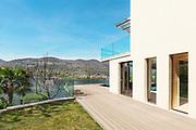 architecture, modern house, beautiful veranda, outdoor