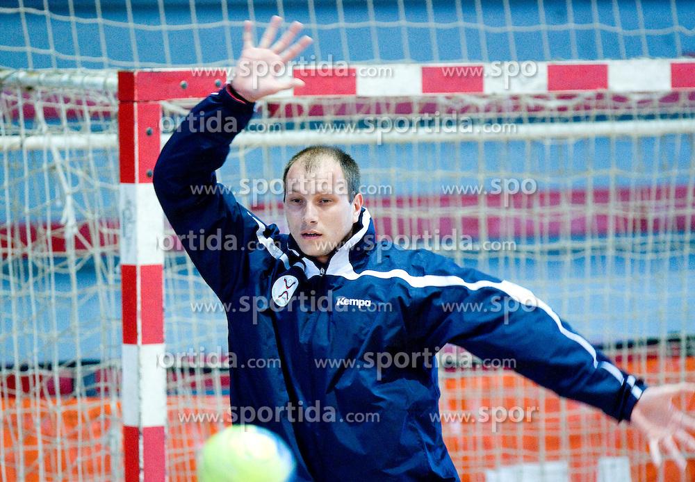 Aljosa Rezar at practice of Slovenian Handball Men National Team, on June 4, 2009, in Arena Kodeljevo, Ljubljana, Slovenia. (Photo by Vid Ponikvar / Sportida)
