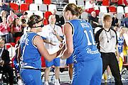 DESCRIZIONE : Valmiera Latvia Lettonia Eurobasket Women 2009 Italia Bielorussia Italy Belarus<br /> GIOCATORE : Chiara Pastore Kathrin Ress<br /> SQUADRA : Italia Italy<br /> EVENTO : Eurobasket Women 2009 Campionati Europei Donne 2009 <br /> GARA :  Italia Bielorussia Italy Belarus<br /> DATA : 09/06/2009 <br /> CATEGORIA : esultanza<br /> SPORT : Pallacanestro <br /> AUTORE : Agenzia Ciamillo-Castoria/E.Castoria
