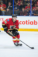 PENTICTON, CANADA - SEPTEMBER 17: Andrew Mangiapane #88 of Calgary Flames skates against the Edmonton Oilers on September 17, 2016 at the South Okanagan Event Centre in Penticton, British Columbia, Canada.  (Photo by Marissa Baecker/Shoot the Breeze)  *** Local Caption *** Andrew Mangiapane;