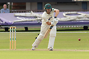 George Rhodes batting during the Specsavers County Champ Div 2 match between Leicestershire County Cricket Club and Northamptonshire County Cricket Club at the Fischer County Ground, Grace Road, Leicester, United Kingdom on 10 September 2019.