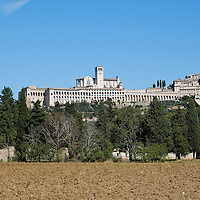 ASSISI, ITALY - OCTOBER 03:  A general view of Assisi with the Basilica of S. Francesco on October 3, 2013 in Assisi, Italy. Pope Francis is due to venerate the tomb of San Francesco of Assisi tomorrow during his one-day visit to the city. (Photo by Marco Secchi/Getty Images)