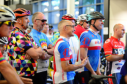 Cyclists listen to a briefing before Break the Cycle   - Mandatory by-line: Dougie Allward/JMP - 18/06/2017 - SPORT - Ashton Gate - Bristol, England - Break the Cycle 2017