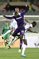 Firenze 22-04-2017 Stadio Artemio Franchi Football Calcio Serie A 2016/2017 Fiorentina - Inter / foto Daniele Buffa/Image Sport<br /> Khouma el Babacar Fiorentina, Joao Miranda, Geoffrey Kondogbia Inter