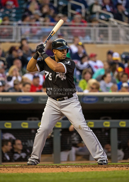 MINNEAPOLIS, MN- MAY 01: Jose Abreu #79 of the Chicago White Sox bats against the Minnesota Twins on May 1, 2015 at Target Field in Minneapolis, Minnesota. The Twins defeated the White Sox 1-0. (Photo by Brace Hemmelgarn) *** Local Caption *** Jose Abreu