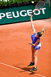 PARIS, May 30, 2017  Elina Svitolina of Ukraine serves during the women's singles 1st round match against Yaroslava Shvedova of Kazakhstan at the French Open Tennis Tournament 2017 in Paris, France on May 30, 2017. (Credit Image: © Chen Yichen/Xinhua via ZUMA Wire)