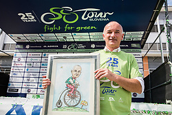 Bogdan Fink, race director after the 5th Time Trial Stage of 25th Tour de Slovenie 2018 cycling race between Trebnje and Novo mesto (25,5 km), on June 17, 2018 in  Slovenia. Photo by Vid Ponikvar / Sportida