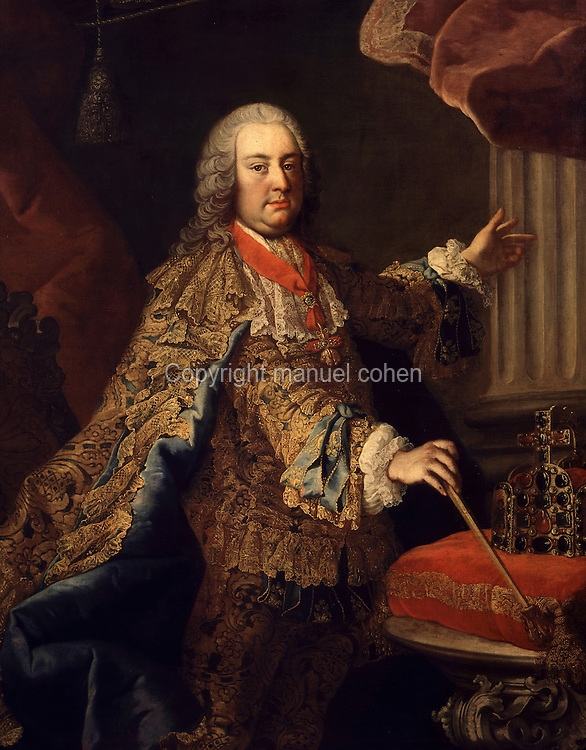 Portrait of Francis I of Habsburg-Lorraine, 1708-65, Holy Roman Emperor and husband of Maria-Theresa of Austria, 1740, oil on canvas, by Martin Van Meytens, 1695-1770, from the collection of the Museum der Stadt Wien, Vienna, Austria. Picture by Manuel Cohen