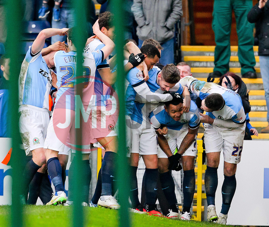 Josh King of Blackburn Rovers celebrates after scoring his hat-trick  -  Photo mandatory by-line: Matt McNulty/JMP - Mobile: 07966 386802 - 14/02/2015 - SPORT - Football - Blackburn - Ewood Park - Blackburn Rovers v Stoke City - FA Cup - Fifth Round