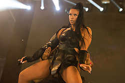 Sevdaliza performs on stage on day 2 of All Points East festival in Victoria Park in London, UK. Picture date: Saturday 26 May 2018. Photo credit: Katja Ogrin/ EMPICS Entertainment.