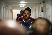 Swansea players arrive ahead of the Barclays Premier League match between Crystal Palace and Swansea City at Selhurst Park, London, England on 28 December 2015. Photo by Michael Hulf.