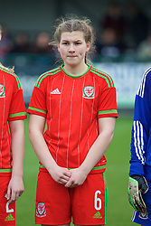 NEWPORT, WALES - Friday, April 1, 2016: Wales' Alice Griffiths lines-up before the game against Republic of Ireland during Day 1 of the Bob Docherty International Tournament 2016 at Dragon Park. (Pic by David Rawcliffe/Propaganda)