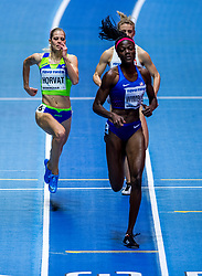 BIRMINGHAM, ENGLAND - MARCH 02: Anita Horvat of Slovenia, Shakira Wimbley of USA  compete during round 1 of the Women's 400m at the IAAF World Indoor Championships at Arena Birmingham on March 2, 2018 in Birmingham, England. Photo by Ronald Hoogendoorn / Sportida