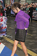 23.JANUARY.2013. LONDON<br /> <br /> AMANDA HOLDEN ARRIVING AT THE BRITAINS GOT TALENT AUDITIONS AT THE LONDON PALADIUM.<br /> <br /> BYLINE: EDBIMAGEARCHIVE.CO.UK<br /> <br /> *THIS IMAGE IS STRICTLY FOR UK NEWSPAPERS AND MAGAZINES ONLY*<br /> *FOR WORLD WIDE SALES AND WEB USE PLEASE CONTACT EDBIMAGEARCHIVE - 0208 954 5968*