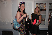 COCO FENNELL; SUZI WILSON, The launch of 'Solo', the new James Bond novel written by William Boyd,  The Dorchester , PARK LANE, LONDON. 25 SEPTEMBER 2013.