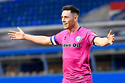 Rochdale forward Ian Henderson (40) scores a goal and celebrates  0-1 during the EFL Sky Bet League 1 match between Coventry City and Rochdale at the Trillion Trophy Stadium, Birmingham, England on 16 November 2019.
