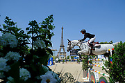 Paris, France : Georgina Bloomberg riding Paola during the Longines Paris Eiffel Jumping 2018, on July 5th to 7th, 2018 at the Champ de Mars in Paris, France - Photo Christophe Bricot / ProSportsImages / DPPI