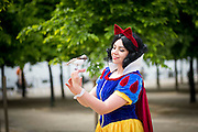 UNITED KINGDOM, London: 27 May 2016 Cosplay fan Amy Humphreys from Liverpool poses for a picture dressed as Snow White outside of the MCM London Comic Con held all this weekend at The ExCeL Centre. The comic convention will see an estimated 150,000 cosplay and comic fans flock to the exhibition. Rick Findler / Story Picture Agency