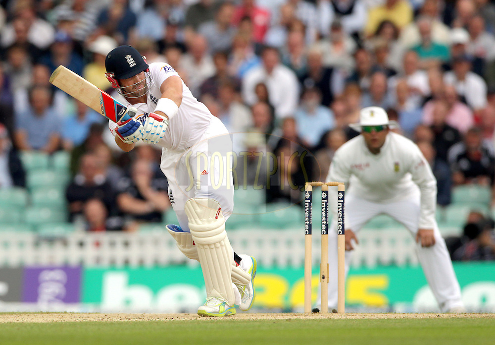 © Andrew Fosker / Seconds Left Images 2012 - England's Matt Prior (WK)  clips the ball away  England v South Africa - 1st Investec Test Match -  Day 2 - The Oval  - London - 20/07/2012