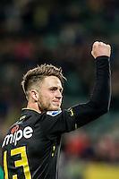 DEN HAAG - ADO Den Haag - Vitesse , Voetbal , Eredivisie , Seizoen 2016/2017 , Kyocera Stadion , 03-02-2017 , Vitesse speler Ricky van Wolfswinkel viert zijn goal voor de 0-2