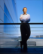 Andy Grove was a co-founder of INtel, photographed at Intel Hdq in California.