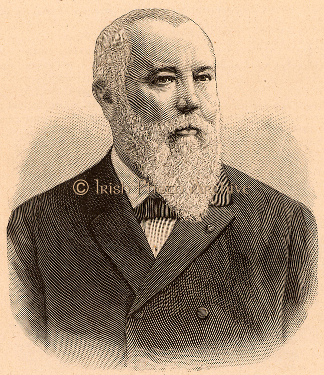 Zenobe Theophile Gramme (1826-1901) Belgian electrical engineer who settled in France in his 20s. Invented the direct current dynamo (c1871).  Engraving c1901.