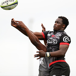 Lubabalo Tera Mtembu of the Cell C Sharks during The Cell C Sharks Pre Season warm up game 1,The Cell C Sharks B and the Toyota Cheetahs B,at King Zwelithini Stadium, Umlazi, Durban, South Africa. Friday, 3rd February 2017 (Photo by Steve Haag)