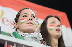 Fan of Hungary during handball match between National teams of Denmark and Hungary on Day 2 in Preliminary Round of Men's EHF EURO 2018, on Januar 13, 2018 in Skolsko Sportska Dvorana, Varazdin, Croatia. Photo by Mario Horvat / Sportida